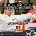 ONTARIO KARATE PROVINCIAL SELECTION 2 - Seniors and Juniors
