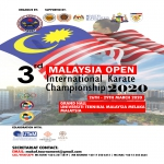 3RD MALAYSIA OPEN INTERNATIONAL KARATE CHAMPIONSHIP 2020