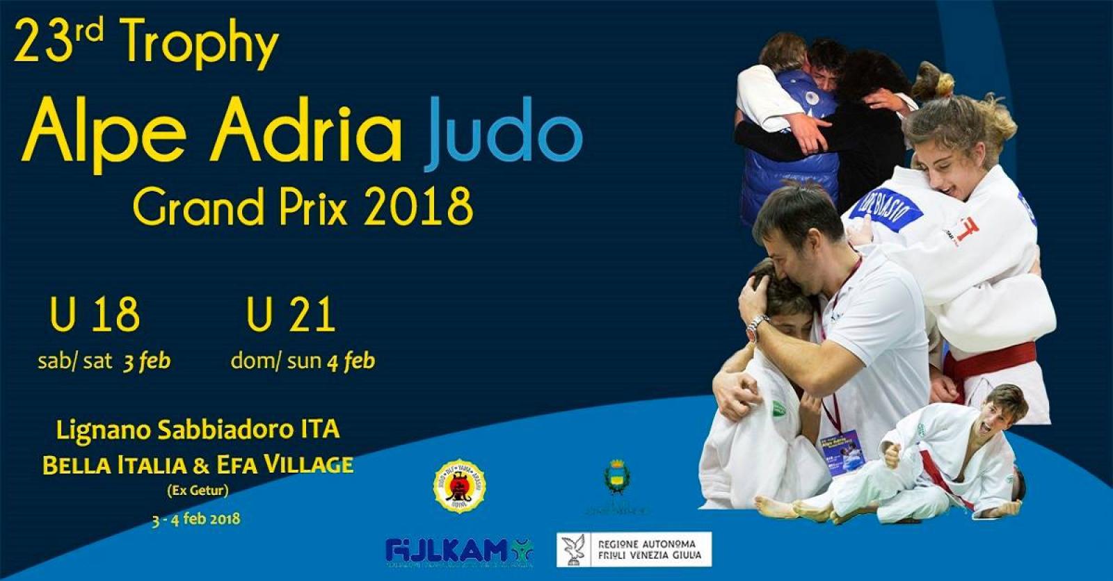 SET Online Judo: XXIII ALPE ADRIA Grand Prix Judo CA e JU 2018