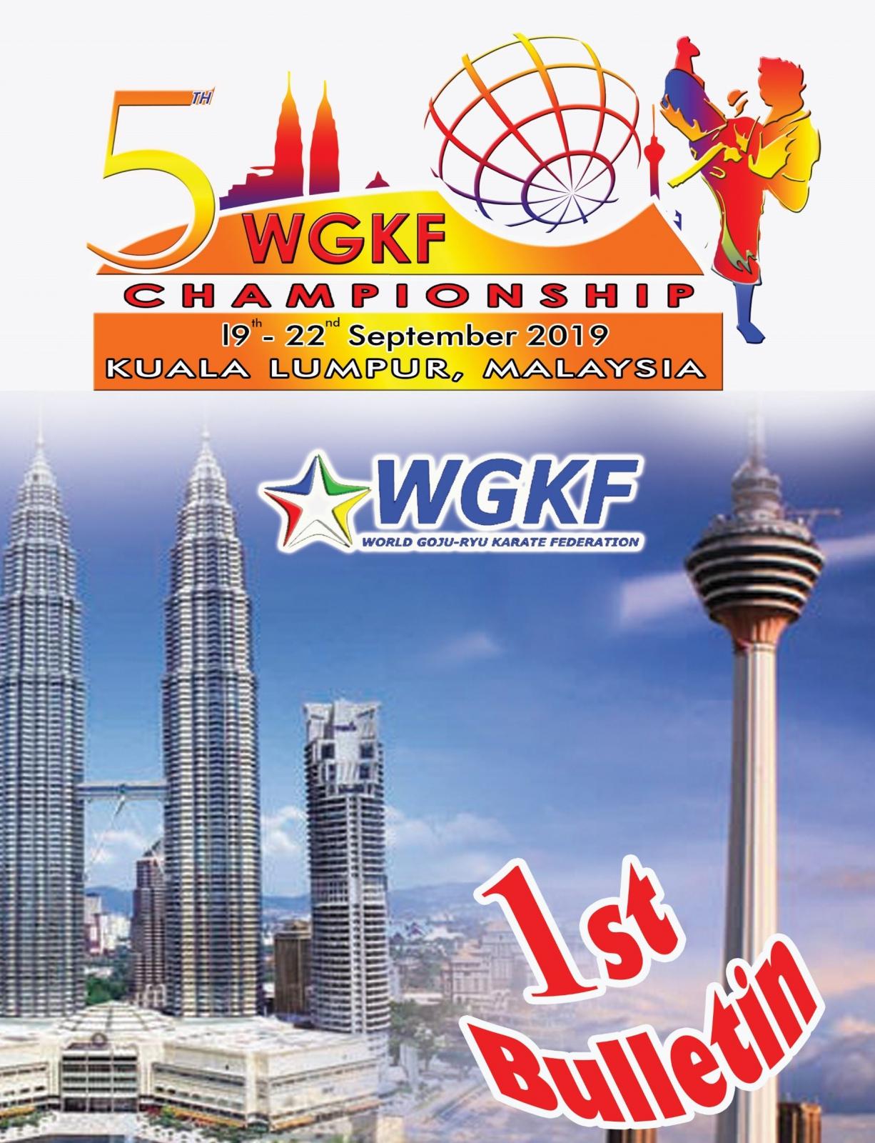 SET Online Karate: WGKF CHAMPIONSHIP 2019 KUALA LUMPUR, MALAYSIA